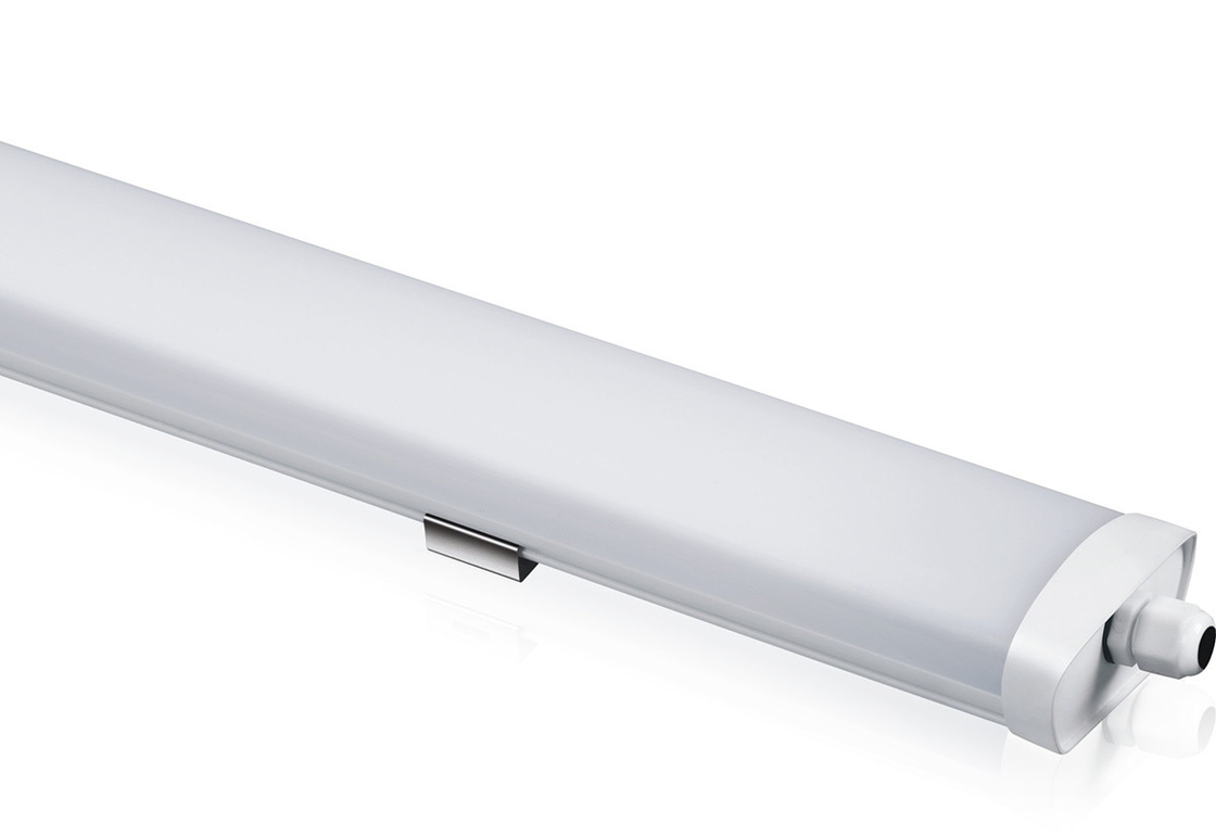 Office 1200mm Ip65 LED Batten Light Pure White CCT 4500K Ultrathin PC Body Long Life